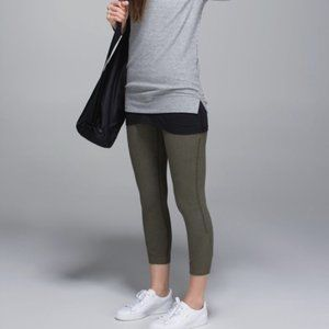 Lululemon Refine Crop Fatigue Green Size 8